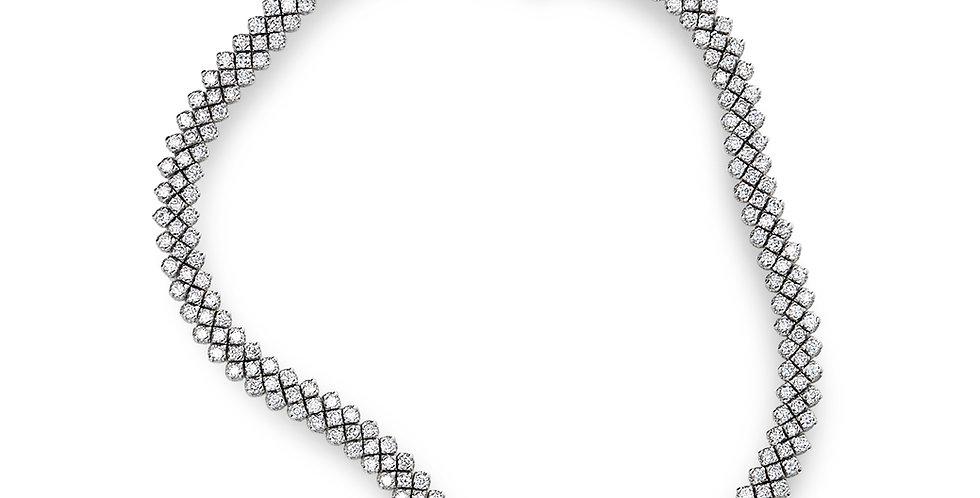 Piero Milano exkluzív fehérarany csipke mintázatú gyémánt karkötő