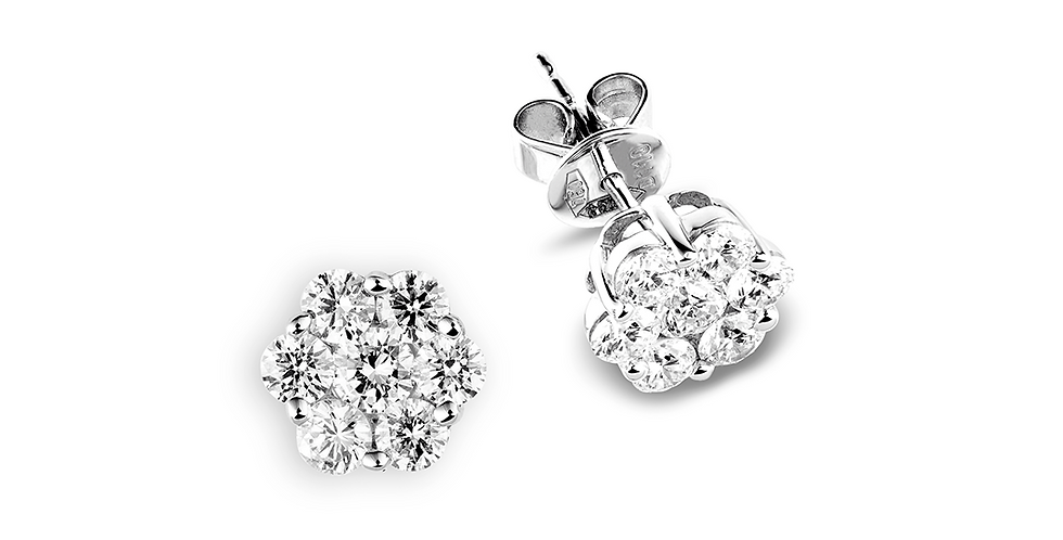 Piero Milano hétköves gyémánt bedugós fülbevaló fehérarany foglalatban