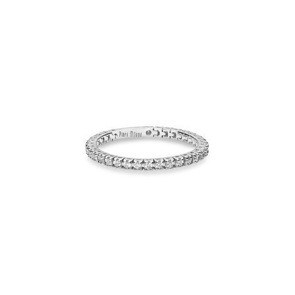 Piero Milano flexibilis karikagyűrű 18kt-os fehéraranyból, fehér gyémántokkal