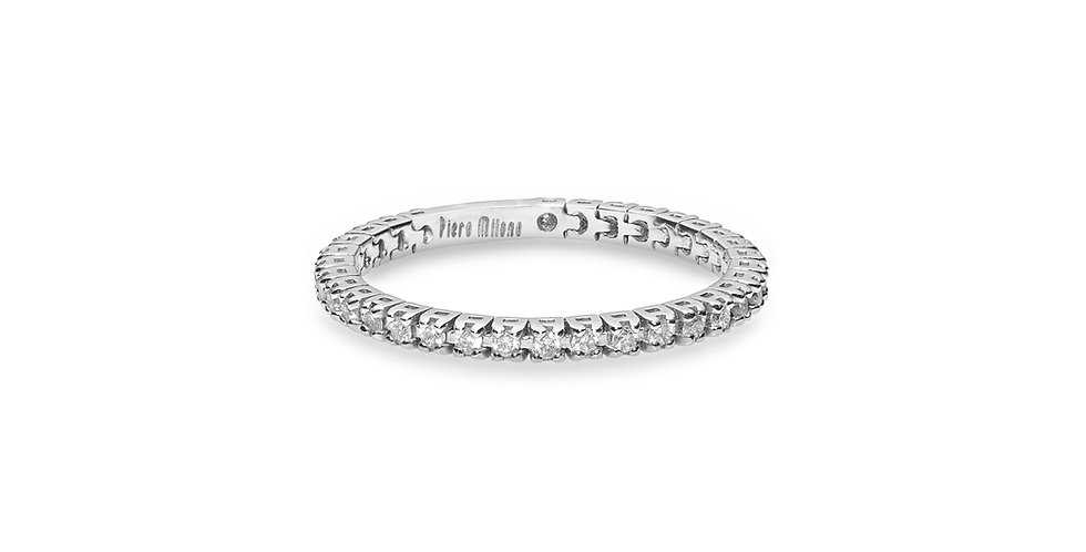 """Fehérarany """"eternity"""" körben gyémántos flexibilis gyűrű"""