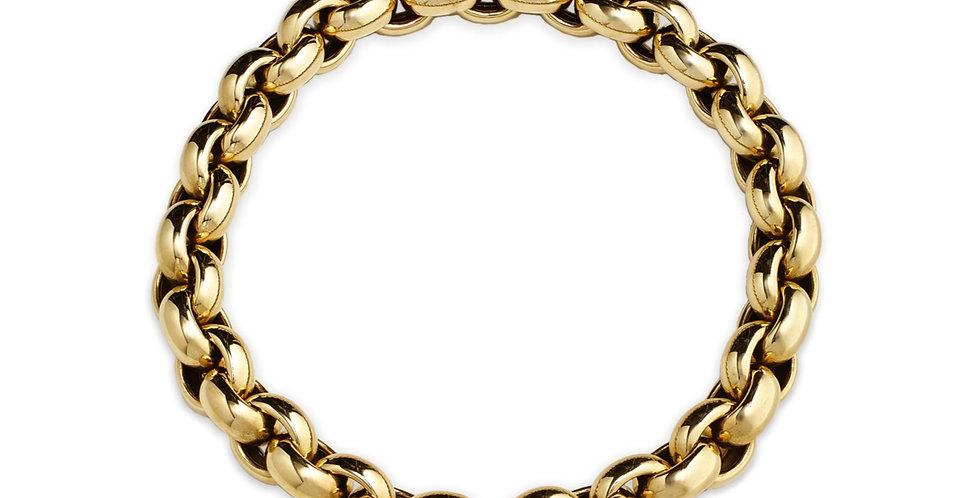 Sárgaarany és fehérarany  collier gyémántokkal