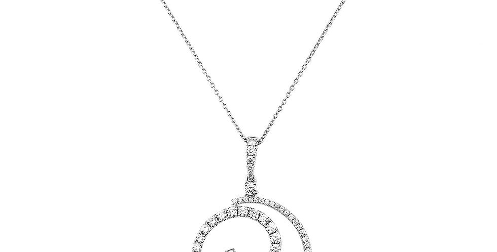 Piero Milano 18kt-os fehérarany nyaklánc gyémántokkal