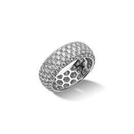 Exkluzív gyémánt gyűrű öt soros pavé foglalattal