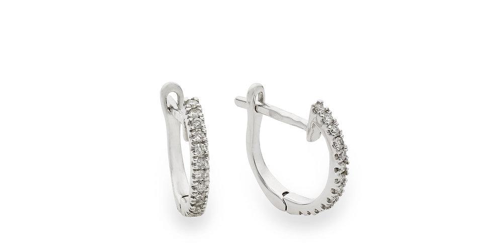 Fehérarany francia kapcsos pici fülbevaló fehér gyémántokkal