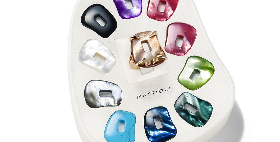 """Mattioli rózsaarany """"Puzzle"""" gyűrű 11 színű változatban, medium méretben"""