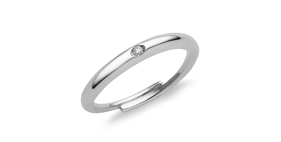 Cervera 18kt fehérarany karikagyűrű gyémánttal