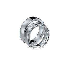 Exkluzív fehérarany jegygyűrű alul-felül gyémántokkal