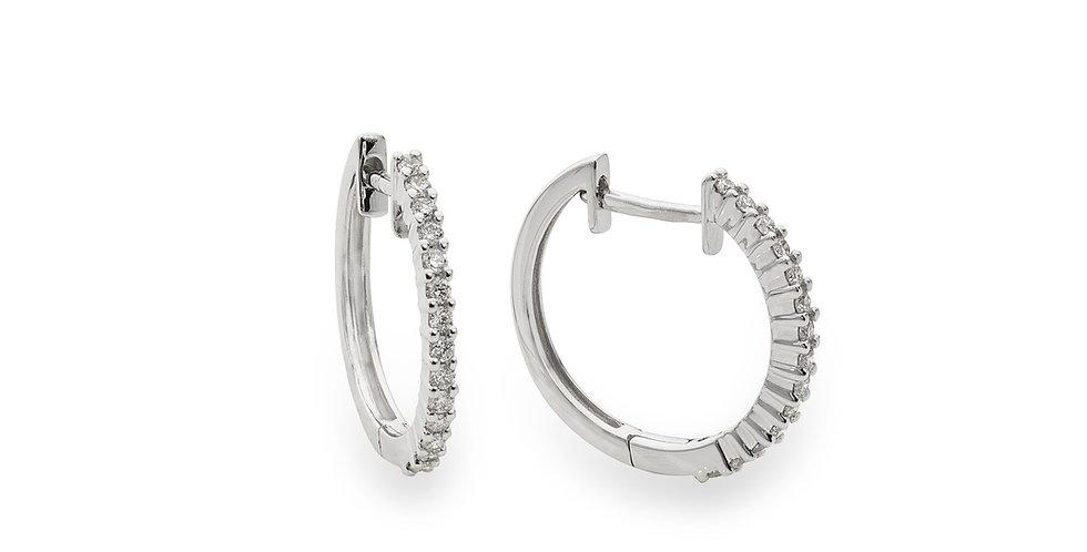 Piero Milano 18kt-os fehérarany gyémánt karika fülbevaló