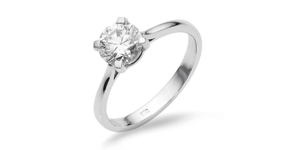 Fehérarany négykarmos gyémánt eljegyzési gyűrű