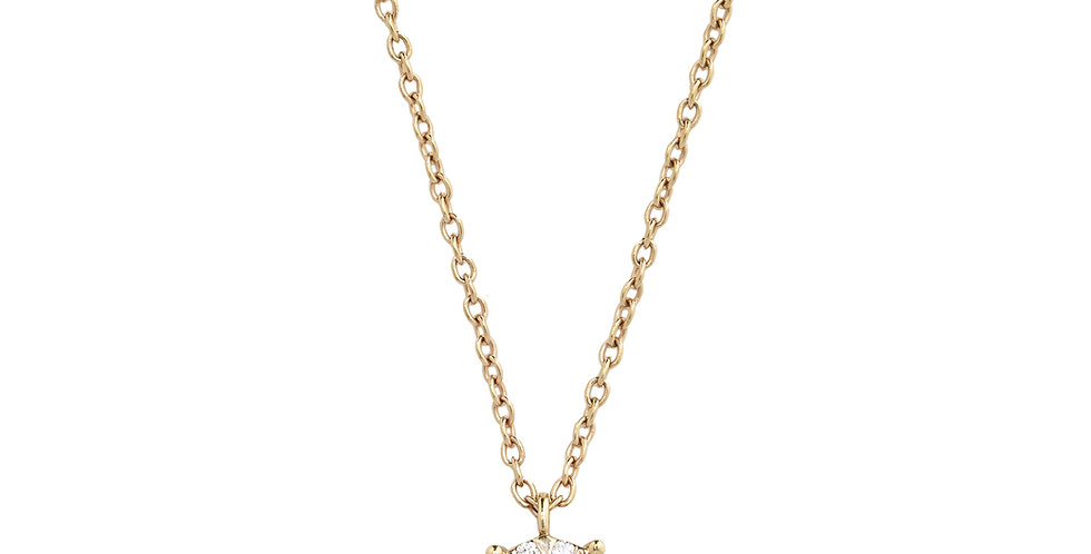 Piero Milano gyémánt medál rózsaarany láncon
