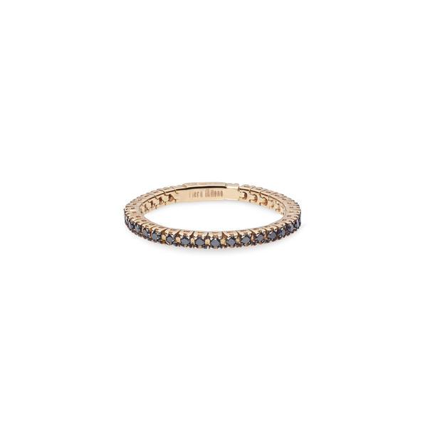 Piero Milano flexibilis karikagyűrű 18kt-os rózsaaranyból, fekete gyémántokkal