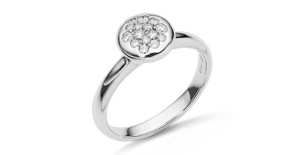 Fehérarany gyűrű pavé gyémántokkal