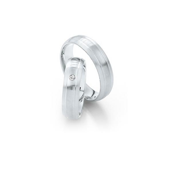 Vésett fehérarany jegygyűrűpár gyémánttal