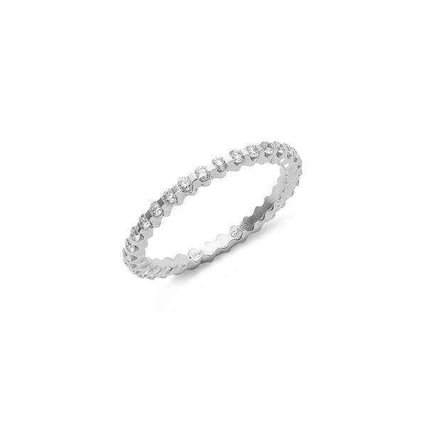 """Garavelli körben gyémántos fehérarany """"eternity"""" gyűrű"""