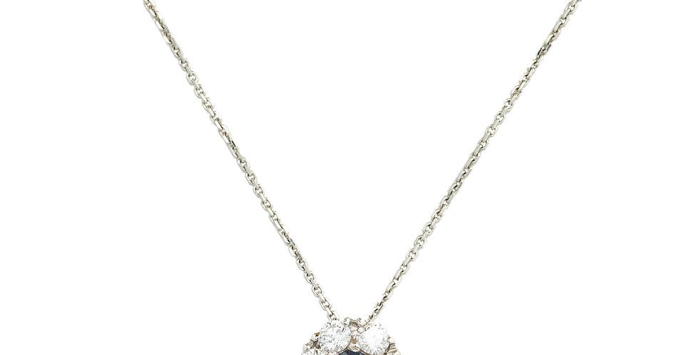 Garavelli 18kt-os fehérarany nyaklánc gyémánt és zafír 7 köves medállal