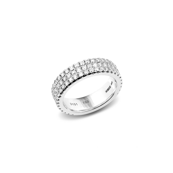 Piero Milano 18kt-os körben gyémántos fehérarany gyűrű