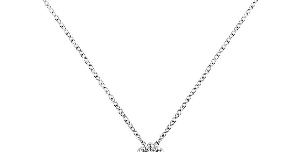 Piero Milano hétköves gyémánt medál fehérarany láncon