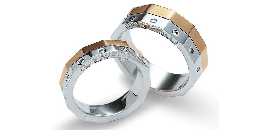 Garavelli szögletes karikagyűrű