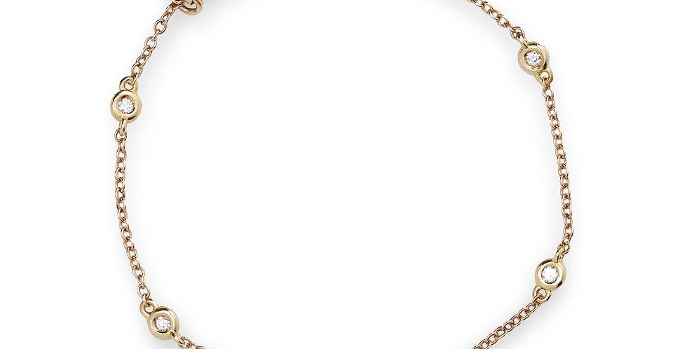 Piero Milano rózsaarany karlánc gyémántokkal