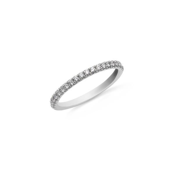 Hulchi Belluni félig köves fehérarany karikagyűrű