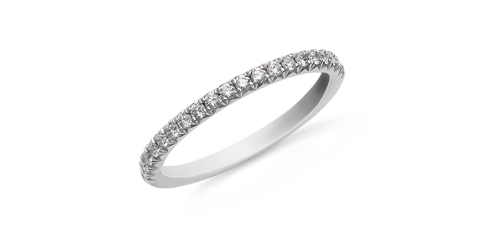 Hulchi Belluni fehérarany és gyémánt félig köves karikagyűrű