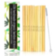 Bamboo Drinking Straws Reusable and Eco-Friendly (10 pcs w/Brush)