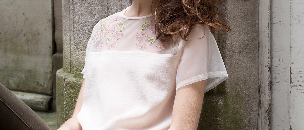 Pastel Delicate Embroidered  Top