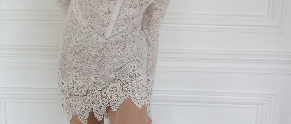 Delicate White Lace Dress