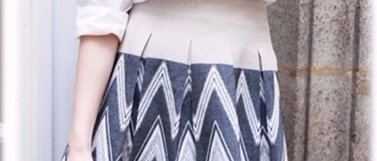 Engineered Cotton Jacquard Skirt