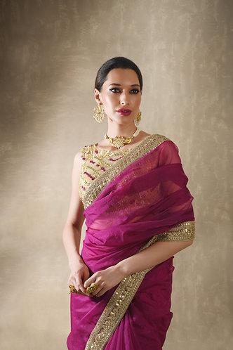 Indigo sari set