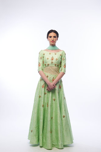 Jade Anarkali set