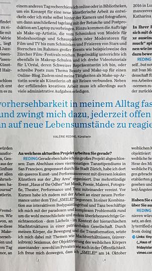 Interview with Valérie Reding by Natascha Ewert Journal
