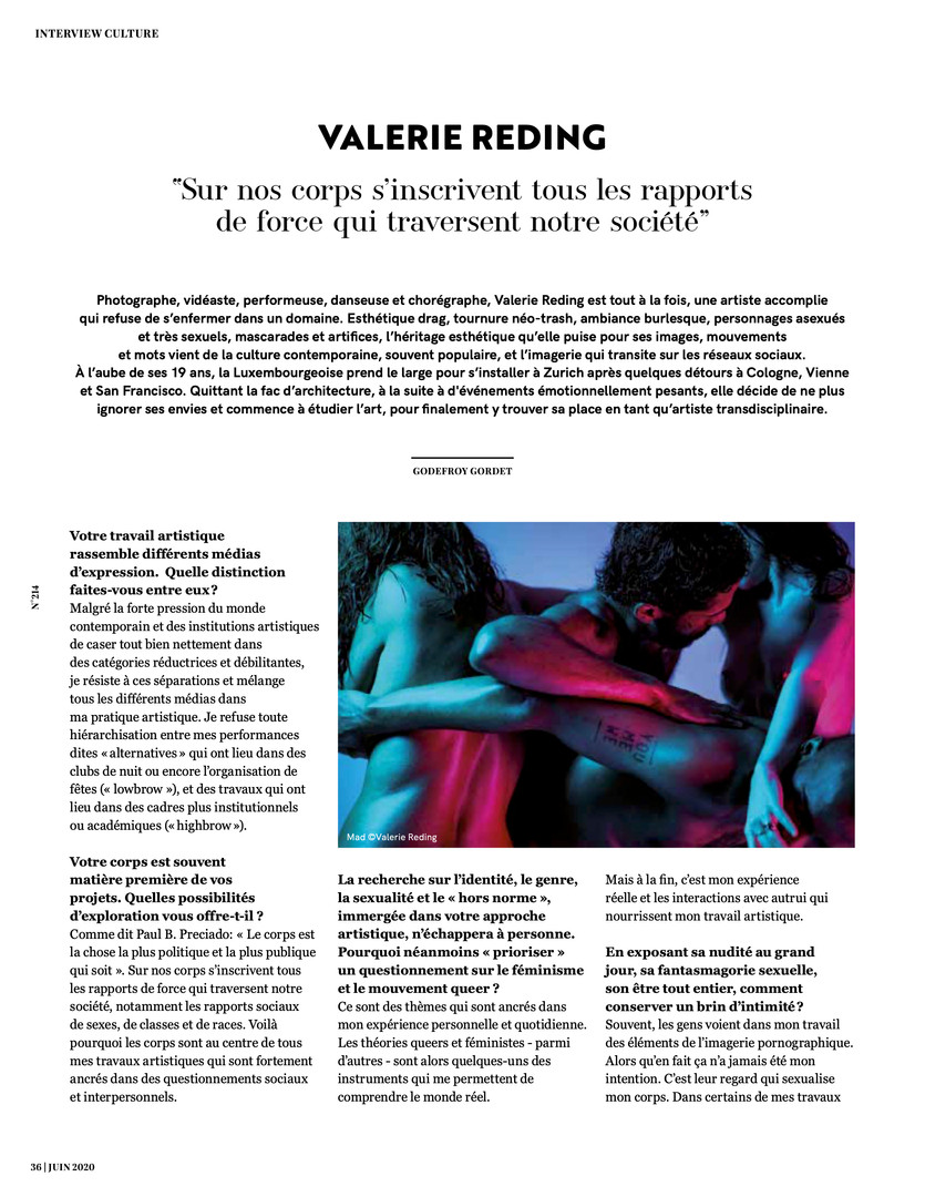 Interview in Femmes Magazine Luxembourg Nr. 214