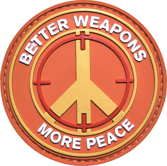 Better Weapons More Peace PVC Morale Patch