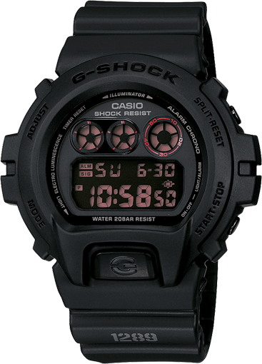 Casio G-Force Casio DW6900MS-1 G-Shock Matte Black Resin Strap Mens Watch