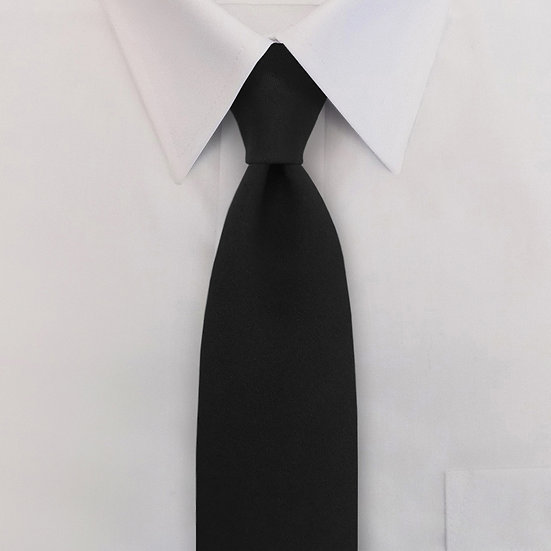 Poly/Wool Clip-On Neck Tie