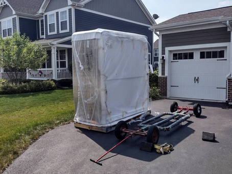 Curbside final delivery for your hot tub