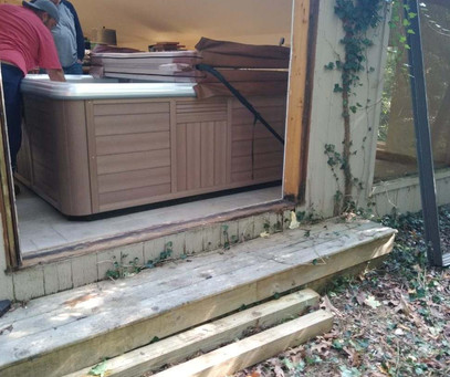 Professional hot tub moving services