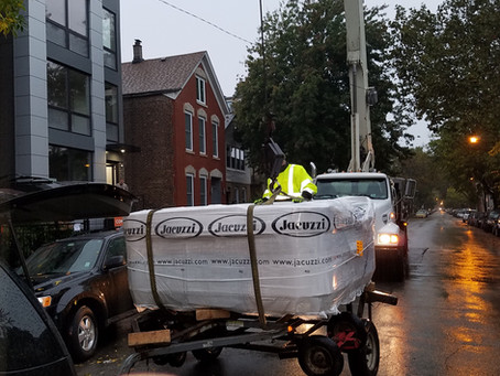 Professional Hot Tub Moving Services Chicago, IL & Area
