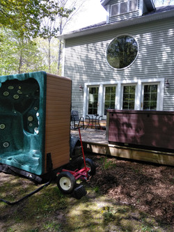 Hot Tub Removal & New Tub Delivery