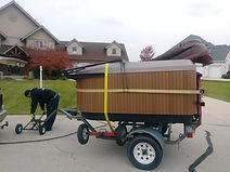 Spa Dolly used for hot tub moving