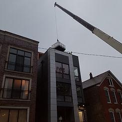 hot tub move by crane