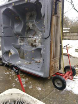 Hot tub removal & disposal.