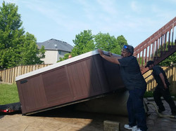 LARGE HOT TUB DELIVERY