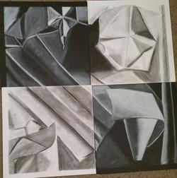 Black and White Paper Still Life