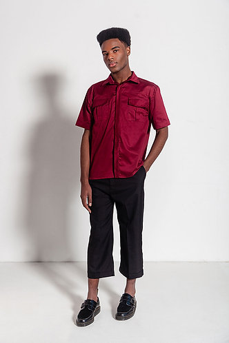 Camisa Vermelha de Manga Curta
