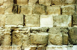 THE GREAT PYRAMID LAYERS OF BACKING STONES USED BEHIND THE CASING BLOCKS