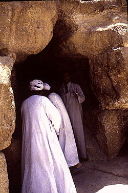 ENTRANCE TO THE TUNNEL BORED BY THE CALIPH