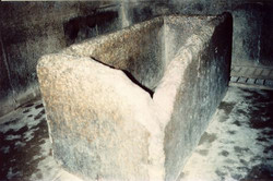 SARCOPHAGUS Cut from a solid granite block