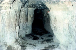 Section of the tunnel bored by Al-Mamun to enter into the Great Pyramid